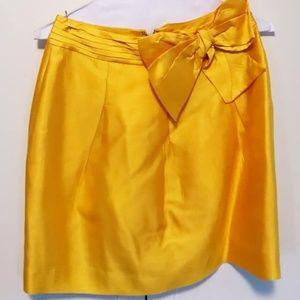 Kate Spade silk bow skirt